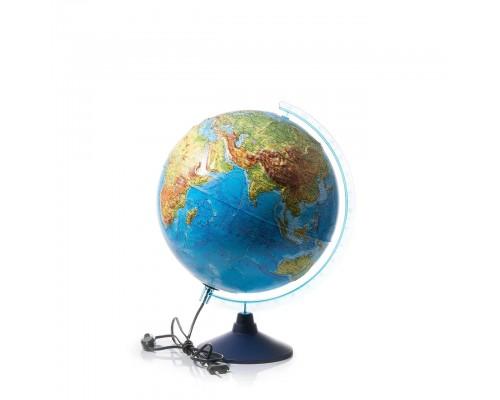 Глобус физико-политический d320мм с подсветкой Рельефный Классик Евро