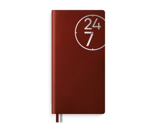 Ежедневник (недатированный) 56 листов 150x75 мм ПВХ КРАСНЫЙ