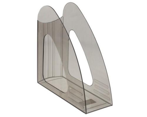 """Лоток для бумаг вертикальный BRAUBERG """"Delta"""" тонированный серый, 237241"""