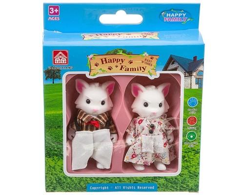 Набор Happy Family фигурки зверюшек, 2 лисёнка, 15,21?15,21?4,5 см, 012-07C.