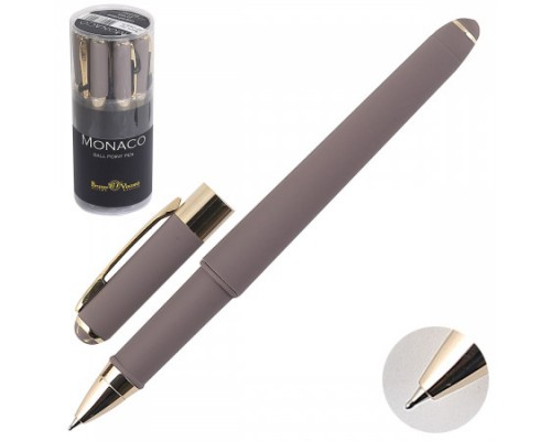 "Кан.Ручка подар.""MONACO"" 0.5 ММ, СИНЯЯ (серый корпус)"