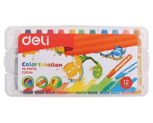 Кан.Пастель масл.12цв.Deli EC20104/A Color Emotion шестигранные